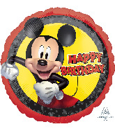 "18"" Mickey Mouse Forever Birthday Foil Balloon"