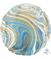 "18"" Marblez™ Blue Circle Foil Balloon"