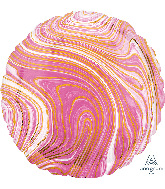 "18"" Marblez™ Pink Circle Foil Balloon"