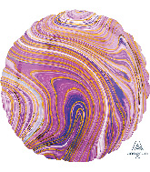"18"" Marblez™ Purple Circle Foil Balloon"