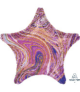 "18"" Marblez™ Purple Star Foil Balloon"
