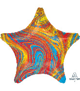 "18"" Marblez™ Colorful Star Foil Balloon"