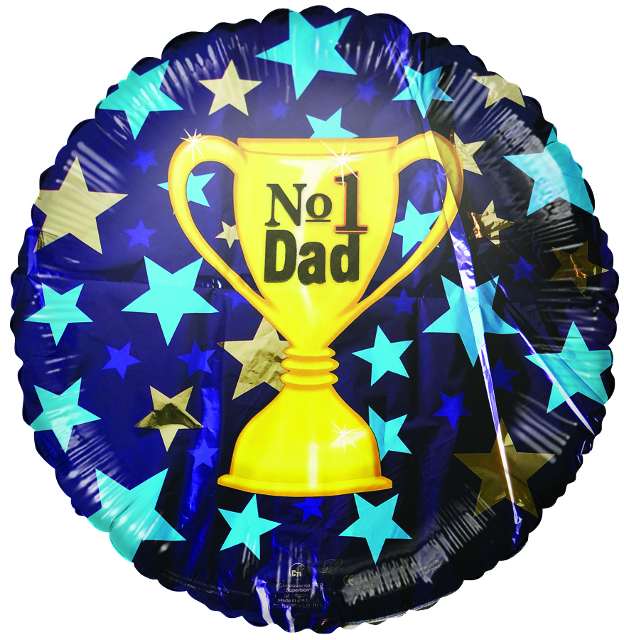 "18"" No. 1 Dad Trophy Foil Balloon"