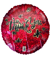 "18"" Thank You Red Foil Balloon"