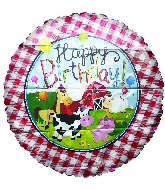 "18"" Happy Birthday Farm Animals Foil Balloon"