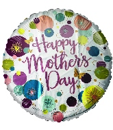 "18"" Happy Mother's Day Dots Foil Balloon"