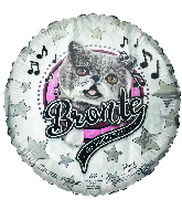 "18"" Bronte Singing Kitty Foil Balloon"