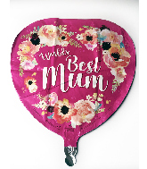 "18"" World's Best Mum Foil Balloon"