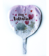 """9"""" Airfill Only Critter My Valentine Foil Balloon"""