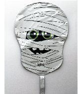 "12"" Airfill Only Smiling Mummy Foil Balloon"