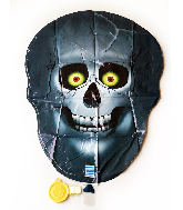 "25"" Blue Skull Foil Balloon"