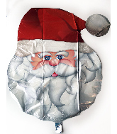 "28"" Santa Face Foil Balloon"