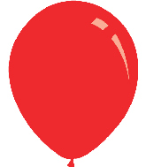 "9"" Standard Red Decomex Latex Balloons (100 Per Bag)"