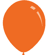 "18"" Standard Orange Decomex Latex Balloons (25 Per Bag)"