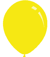 "9"" Standard Yellow Decomex Latex Balloons (100 Per Bag)"