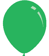 "18"" Standard Green Decomex Latex Balloons (25 Per Bag)"