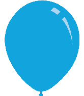 "9"" Standard Blue Decomex Latex Balloons (100 Per Bag)"