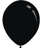 "12"" Standard Black Decomex Latex Balloons (100 Per Bag)"