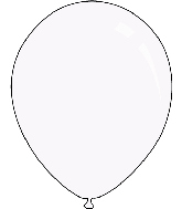 "9"" Crystal Clear Decomex Latex Balloons (100 Per Bag)"