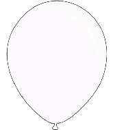 "9"" Metallic White Decomex Latex Balloons (100 Per Bag)"