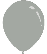 "9"" Metallic Silver Decomex Latex Balloons (100 Per Bag)"