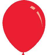 "9"" Metallic Red Decomex Latex Balloons (100 Per Bag)"