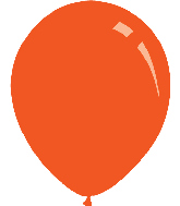 "9"" Metallic Orange Decomex Latex Balloons (100 Per Bag)"