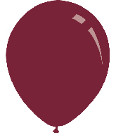 "9"" Metallic Burgundy Decomex Latex Balloons (100 Per Bag)"