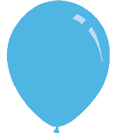 "12"" Metallic Light Blue Decomex Latex Balloons (100 Per Bag)"