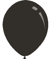 "9"" Metallic Black Decomex Latex Balloons (100 Per Bag)"