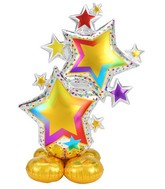 Airfill Only Airloonz Consumer Inflatable ColorFul Star Cluster Foil Balloon