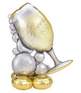 Airfill Only Airloonz Consumer Inflatable Bubbly Wine Glass Foil Balloon