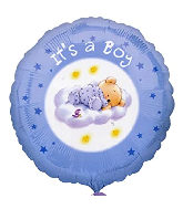 "18"" It's A Boy Roly Bear Foil Balloon"