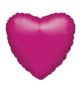 "18"" Metallic Fuchsia Heart Foil­ Balloon"