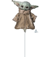 Airfill Only Yoda Star Wars Mandalorian Child Foil Balloon