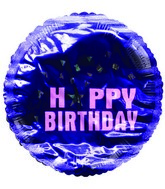 "2"" Airfill Happy Birthday Star Pink Purple Balloon"