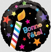 "18"" Bonne Fete Party Mylar Balloons (french)"