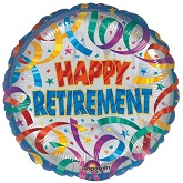 "18"" Party Steamers Retirement Balloon"