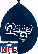 "11"" Latex Balloons St. Louis Rams Neck Up"