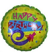 "18"" Happy Birthday Party Horn Holographic"