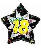18&#39&#39 Happy Birthday 18th Black Star