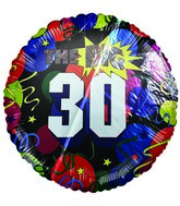 "18"" The Big 30 Birthday Celebration Mylar Balloon"
