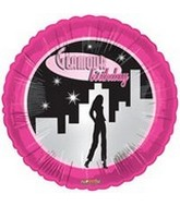 "18"" Glamour Birthday Party Balloon"