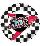 "18"" Checkered Happy Birthday"