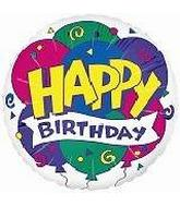 18&#39&#39 Happy Birthday Balloons & Banner