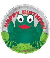 "18"" Hoppy Birthday Frog Balloon"