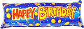 "38"" Happy Birthday Banner Damaged Print"