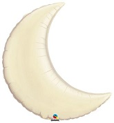 "35"" Pearl Ivory Crescent Moon Balloon"