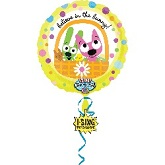 "28"" Sing-A-Tune Hoops & Yoyo Easter Balloon"
