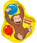 "35"" Curious George with Balloons"